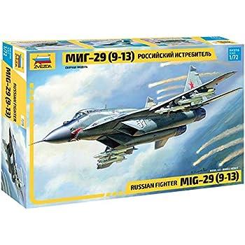 - Plastic Model Kit Scale 1//72 Lenght 24 cm // 9.5 120 Details Zvezda 7278 Russian Fighter MIG-29 9-13