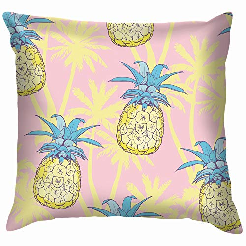 Pineapples Tropical Fruit Pineapple Throw Pillow Case Cushion