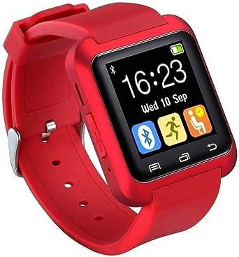Bluetooth Smartwatch U8 Reloj Inteligente Reloj de Pulsera Reloj Deportivo Digital Reloj para teléfono Android Dispositivo portátil usable (Rojo): Amazon.es: Relojes
