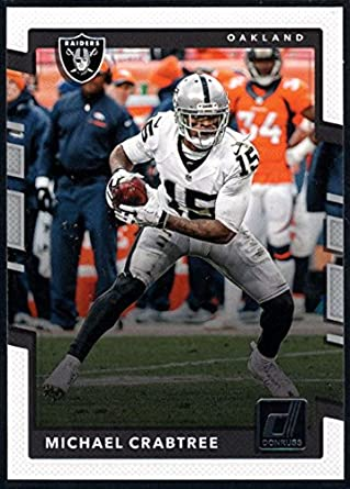 Amazon.com  Football NFL 2017 Donruss  183 Michael Crabtree Raiders ... af2ce6942