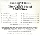 An Evening At The Grand - Vol. 1 ~ Bob Snyder & The Grand Hotel Orchestra [ Audio CD ]
