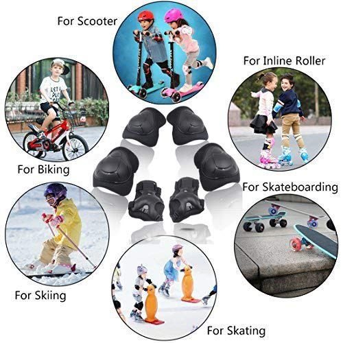 Kids//Youth Knee Pad Elbow Pads Guards Wrist Guards Protective Gear Set for Rollerblade Roller Skates Cycling BMX Bike Skateboard Inline Skating Scooter Riding,Toddler for Multi-Sports Outdoor Age3-7