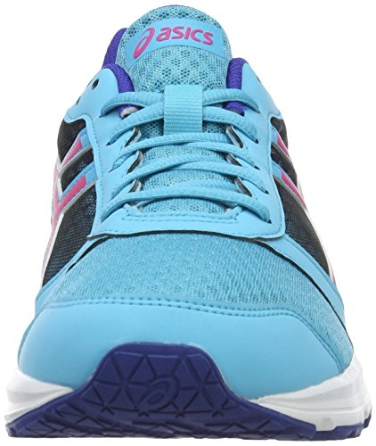 Asics Patriot 8 W, Zapatillas De Running Mujer Multicolor (Aquarium/Sport Pink/Deep Blue)
