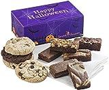 Fairytale Brownies Halloween Cookie & Sprite Treat Combo Gourmet Chocolate Food Gift Basket - 3 Inch x 1.5 Inch Snack-Size Brownies and 3.25 Inch Cookies - 10 Pieces - Item FL320