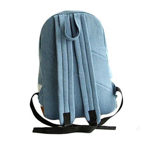 Saingace Arbeiten Sie Spitze-Denim-Frauen-Segeltuch-Rucksack-Schule-Beutel um Schultertasche Freizeitrucksack Tasche Rucksäcke Dunkelblau d1jCed
