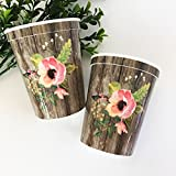 100 Floral Party Cups
