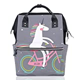 ALAZA Women Casual Backpack Unicorn Multipurpose Book Bag Wide Open Work Backpack Doctor Style Lightweight Travel Backpack Canvas 18L Ladies Girls Students