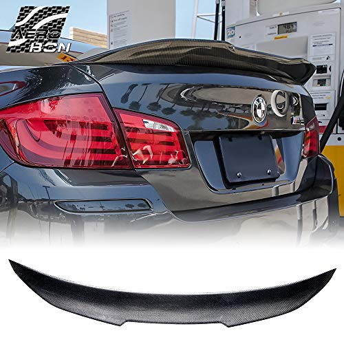 (Real Carbon Fiber Rear Trunk Spoiler for 09-16 BMW F10 5-Series & M5 (High Kick)