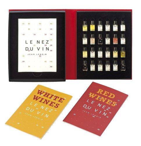 Le Nez du Vin : Duo Les Vins Blancs et le Champagne + Les Vins Rouges 24 arômes (en anglais) (coffret toile) (Vin Blanc)