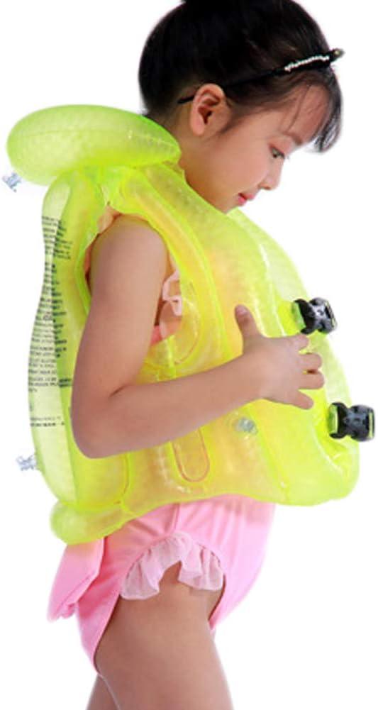 VDONGYUKE 3D Inflatable Vest Swim Jacket Float Suit Trainning Device for Kids Children