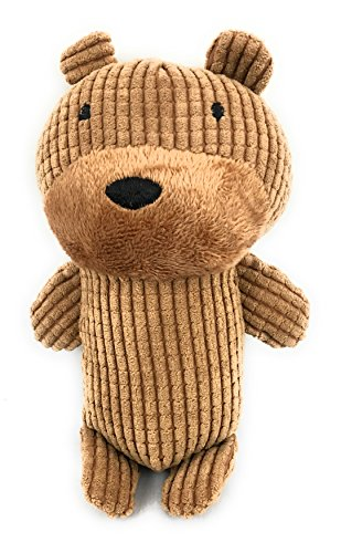 - Pet Dog Toys for Dogs with Grinding Teeth Plush Squeaker Squeaky Soft animal bear Interactive Cute aid good behavioral training (Brown) cleaning teeth by The Collective Hills