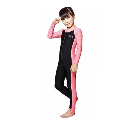 6739d35d69 Segolike Kids Boys Girls Full Body Swimwear Long Sleeve Sun Protection 50+  UV Swimming Diving Surfing Freedive Snorkeling Costume Wetsuit - Choice of  Color ...