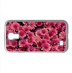 Magenta Mums Watercolor style Cover Samsung Galaxy S4 I9500 Case (Flowers Watercolor style Cover Samsung Galaxy S4 I9500 Case)