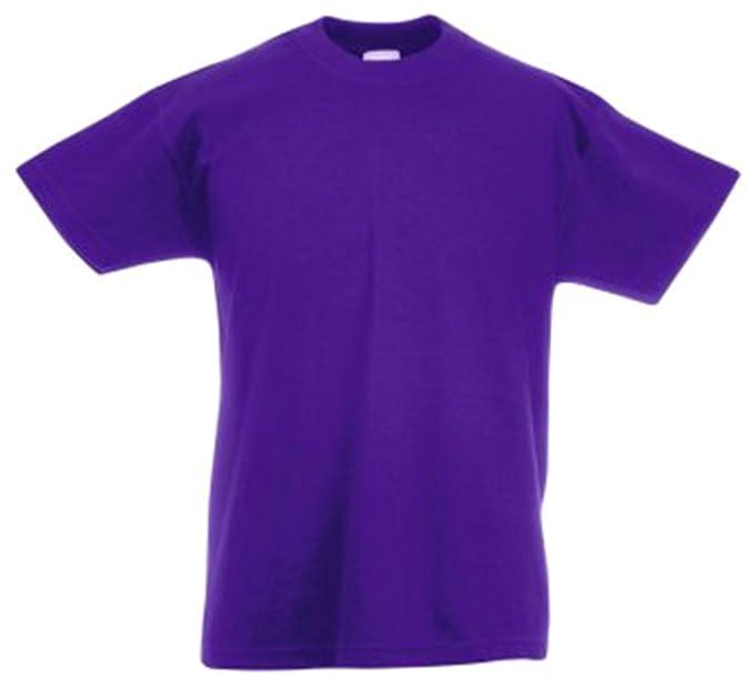 13 opinioni per Fruit Of The Loom Maglietta a manica corta, da bambini, a girocollo 12-13,Purple