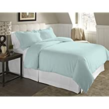 Pointehaven 2-Piece 200 Gsm Flannel Duvet Cover Set, Twin/Twin X-Large, Solid, Lagoon