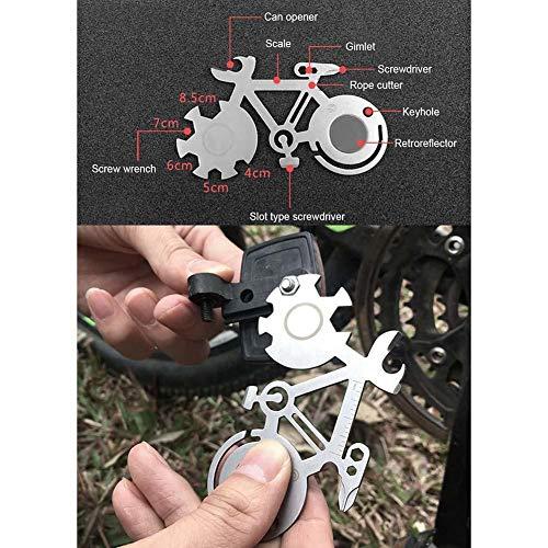 iBàste Herramienta de reparación de Bicicletas Herramienta Multiuso Herramienta de reparación de Bicicleta de mosquetón Llave al Aire Libre de Acero ...