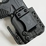 Werkz M6 Modular Holster for Springfield XDS 3.3 9/45 with Olight PL-Mini Valkyrie 2, Right, Solid Black