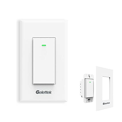 wi fi smart wall light switch, touch, voice and remote control