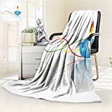 AmaPark Digital Printing Blanket India Religious Festive Fire Candle withBackdrop Printed Summer Quilt Comforter