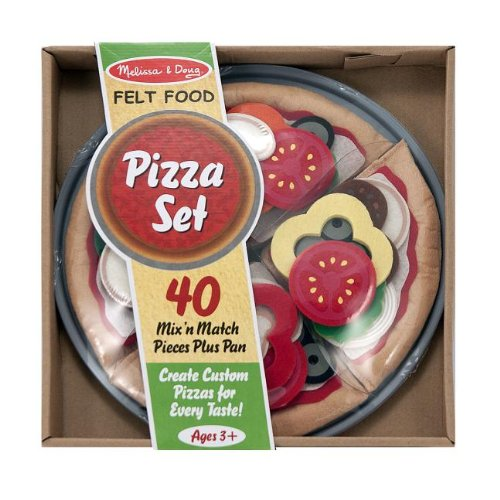 Melissa & Doug Felt Food Mix 'n Match Pizza Play Food Set (40 pcs) (Felt Food Sandwich Set compare prices)