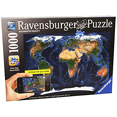 Ravensburger 19308 0 Puzzle 1000 Pezzi Augmented Reality Mappamondo
