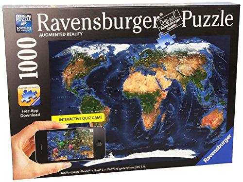 Amazon Lightning Deal 84% claimed: Ravensburger Satellite World Map - Augmented Reality Puzzle