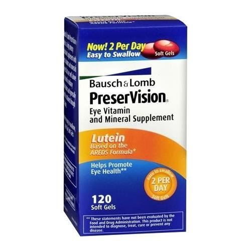Bausch + Lomb PreserVision AREDS Lutein Softgels 120 CP - Buy Packs and SAVE (Pack of 2)