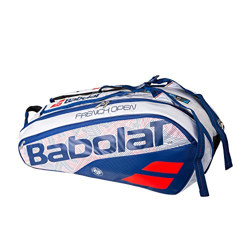 Open 6 Pack Tennis Bag White and Blue-(B751165-203) ()