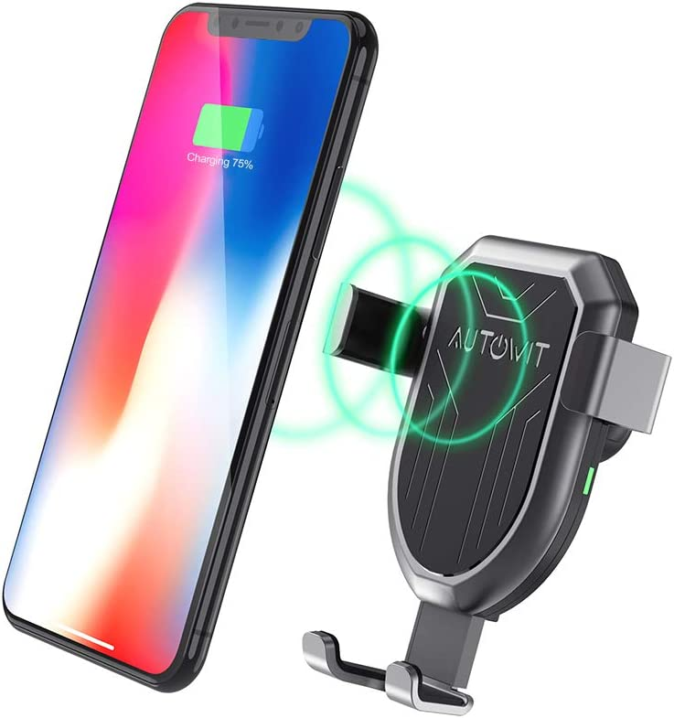 Note 8 autowit Qi Wireless Gravity Car Charger Air Vent Mount Fast Charge Car Phone Holder 10W//7.5W for iPhone X//Xs// 8// 8Plus Samsung Note5 Galaxy S6 Edge+ Qi Enabled Devices