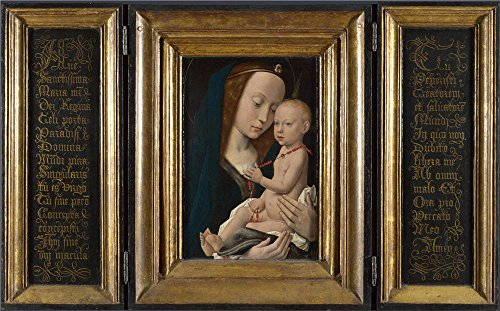'Follower Of Hugo Van Der Goes Virgin And Child ' Oil Painting, 8 X 13 Inch / 20 X 33 Cm ,printed On Perfect Effect Canvas ,this Vivid Art Decorative Prints On Canvas Is Perfectly Suitalbe For Basement Artwork And Home Artwork And Gifts
