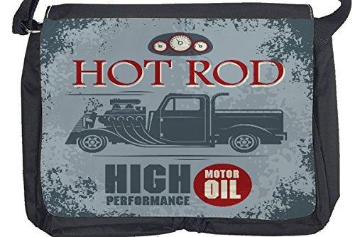 Borsa Tracolla Nostalgico Retrò Auto Hot Rod Stampato