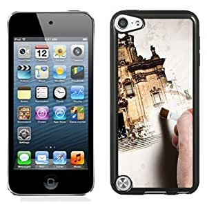 NEW Unique Custom Designed iPod Touch 5 Phone Case With Hand Painting Old Building_Black Phone Case