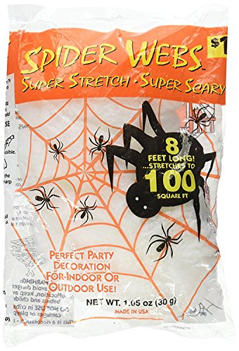 Halloween Decorations To (Super Stretch Spider Web~8 Feet Long Stretches To 100 Square Feet~Halloween & Party Decoration Supply)