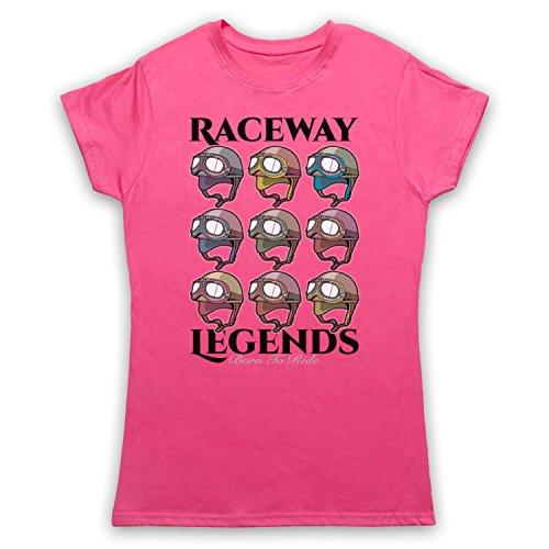 Raceway Legends Born To Ride Camiseta para Mujer Rosa