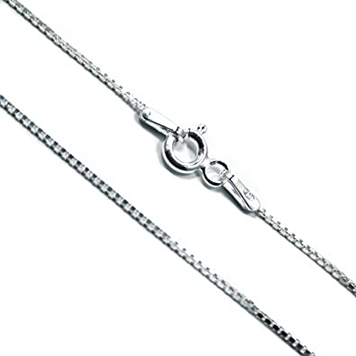 Sterling Silver 18-inch Venetian Box Chain 1mm Made In Italy