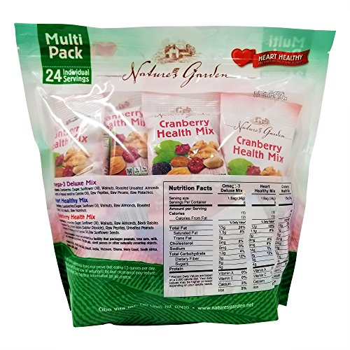Nature's Garden Healthy Trail Mix Snack Packs 1.2 oz, Pack of 24 (Total 28.8 oz) by Nature's Garden (Image #1)