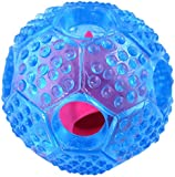 Dog Toys, Dog Toy Interactive Chew Ball For Small Medium Large Dogs, IQ Treat Food Dispensing, Puzzle Boredom Puppy Pals Tough Durable Rubber, Christmas Multipet Pet Balls, Cleans Teeth