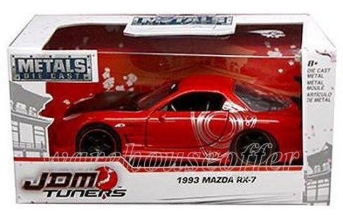 Car Rx Red 7 Mazda - 1:32 W/B METALS JDM TUNERS 1993 MAZDA RX-7 DIECAST RED COLOR 98573-WA1 BY JADA