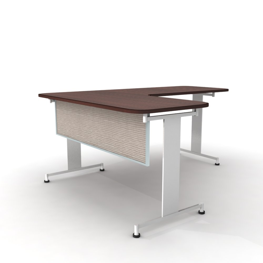 Obex 12X72A-A-BI-MP 12'' Acoustical Desk and Table Mounted Modesty Panel, Birch, 12'' x 72''