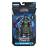 Marvel Legends Series Fantastic Four 6-Inch Collectible Action Figure Doctor Doom Toy, Premium Design, 4 Accessories, 1 Build-A-Figure Part