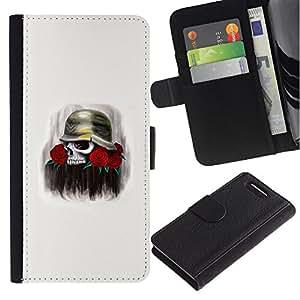 MobileX / Sony Xperia Z1 Compact D5503 / Cute Wookie Chewie Star War / Cuero PU Delgado caso Billetera cubierta Shell Armor Funda Case Cover Wallet Credit Card