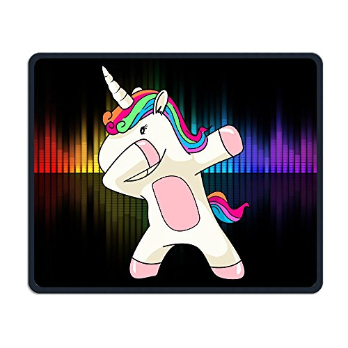 (Colorful Hair Dabbing Shy Unicorn Mouse Pad Non-Slip Rectangle Personalized Mousepad Gaming Customized Comfortable Mouse Pad/Mat Gift)