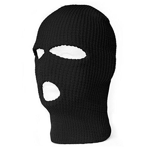 - Black Triton Solutions Ski Face Mask | Balaclava Full Coverage Sport Thermal Hood (Black, Red, Grey, Green, Blue)