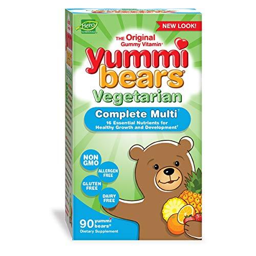 - Yummi Bears Vegetarian Multivitamin and Mineral Supplement, Gummy Vitamins for Kids, 90 Gummies