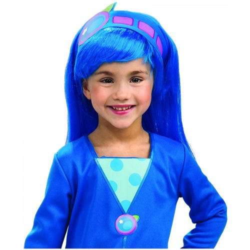 Blueberry Muffin Adult Costume (Strawberry Shortcake Blueberry Muffin Wig, Blue, One Size)
