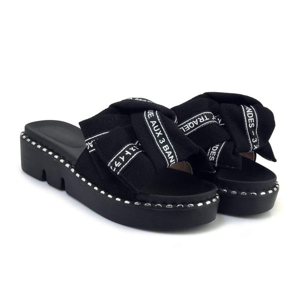 Sandales décontractées pour Talons, Femmes, Chaussures à Talons, Sandales Pantoufles pour Noir 39c67be - robotanarchy.space