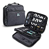 ElecTrek Products Cable Organizer Bag- Water-resistant bag organizes and protects USB drives, memory cards, chargers, cables, cords, adaptors and other device accessories.