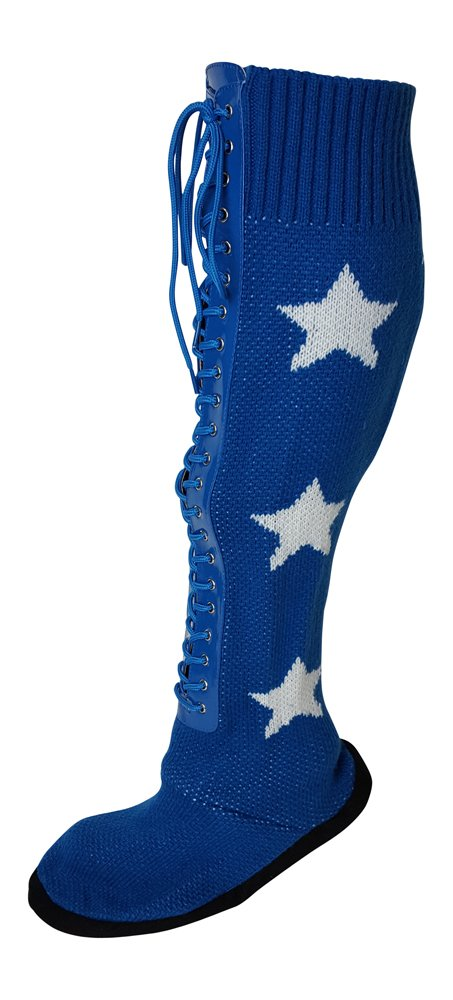 Pro Wrestling Costume Boot Slippers-M-Blue by Main Event Market