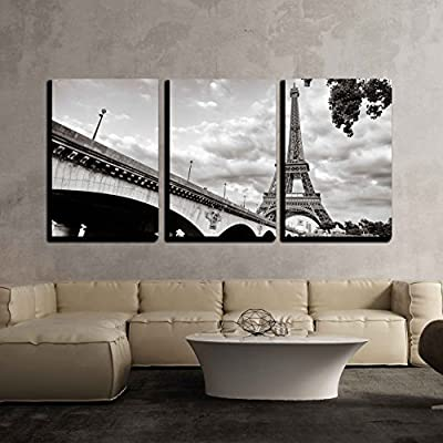 Eiffel Tower View from Seine River x3 Panels 24
