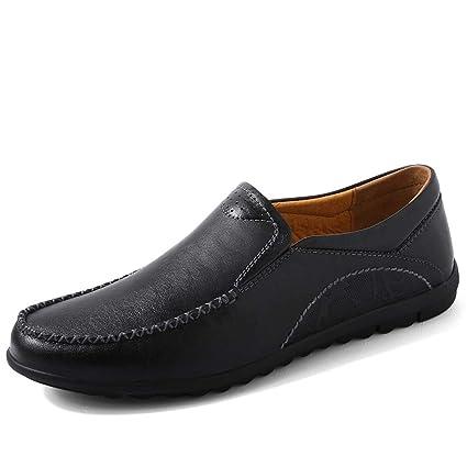 Xiazhi-shoes, Mocasines de conducción de los Hombres, Cuero de Buey Retro Simple